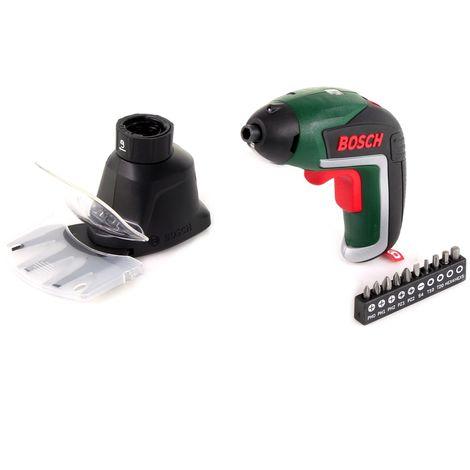 Bosch IXO V Atornillador de jardín a batería 3,6 V ( 06039A800A ) + Fijación de tijeras de podar + Batería integrada + Cargador + Juego de puntas