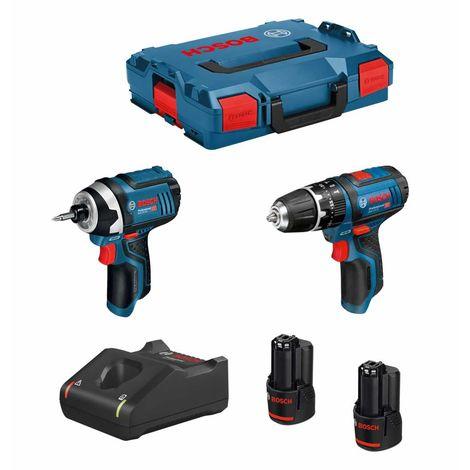 BOSCH Kit 12V B12GSBGDR2bat3a-40 (GSB 12V-15 GDR 12V-10 2 x 3,0 Ah GAL12V-40 L-Boxx 102)