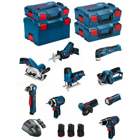 BOSCH Kit 12V BMK10-28DD3 (GSR12V-15+GDR12V-105+GKS12V-26+GWS12V-76+GST12V-70+GOP12V-28+GSA12V-14+GWB12V-10+GLI12V-80+GHO12V-20)