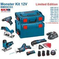 BOSCH Kit 12V BMK6CD3 (GSR 12V-15 + GKS 12V-26 + GST 12V-70 + GOP 12V-LI + GSA 12V-14 + GLI 12V-80 + 3 x 2,0 Ah + GAL1230CV + L-Boxx 238 + L-Boxx 136)