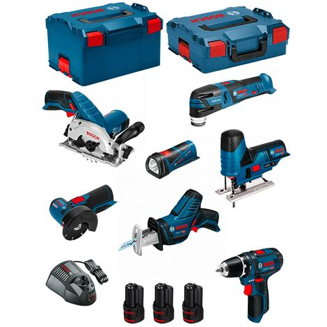 BOSCH Kit 12V BMK7-28AD3 (GSR 12V-15+GKS 12V-26+GWS 12V-76+GST 12V-70+GOP 12V-28+GSA 12V-14+GLI 12V-80+3 x 2,0Ah+GAL1230CV)