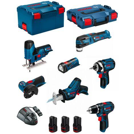 BOSCH Kit 12V BMK7-28BD3 (GSR 12V-15+GDR 12V-105+GWS 12V-76+GST 12V-70+GOP 12V-28+GSA 12V-14+GLI 12V-80+3 x 2,0Ah+GAL1230CV)