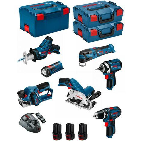 BOSCH Kit 12V BMK7-28DD3 (GSR 12V-15 + GDR 12V-105 + GKS 12V-26 + GOP 12V-28 + GSA 12V-14 + GLI 12V-80 + GHO 12V-20)