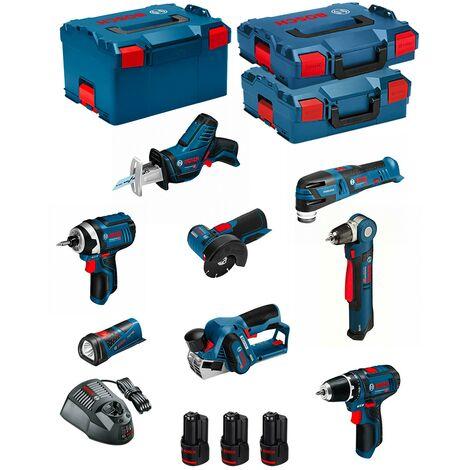 BOSCH Kit 12V BMK8-28ED3 (GSR 12V-15 + GDR 12V-105 + GWB 12V-10 + GWS 12V-76 + GOP 12V-28 + GSA 12V-14 + GHO 12V-20)