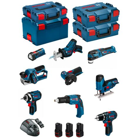 BOSCH Kit 12V BMK9-28CD3 (GSR 12V-15+GTB 12V-11+GDR 12V-105+GWS 12V-76+GST 12V-70+GOP 12V-28+GSA 12V-14+GLI 12V-80+GHO 12V-20)