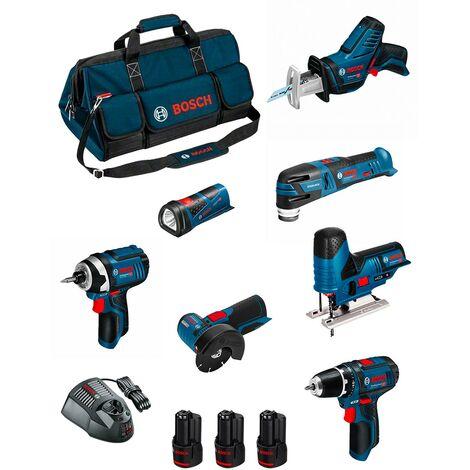 BOSCH Kit 12V BMKB7-28BD3 (GSR 12V-15 + GDR 12V-105+ GWS 12V-76 + GST 12V-70 + GOP 12V-28 + GSA 12V-14 + GLI 12V-80 + ...)