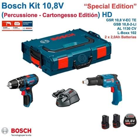 BOSCH Kit 12V (GTB 12V-11+ GSB 12V-15 + 2 x 2,0 Ah + GAL1230CV + L-Boxx 136)