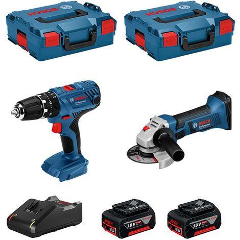 BOSCH Kit 18V BSK182M2A (GSB 18V-21 + GWS 18-125-VLI + 2 x 4,0 Ah + GAL18V-40 + 2 x L-Boxx 136 )