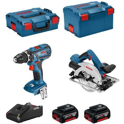 BOSCH Kit 18V BSK182M2D (GSR 18V-28 GKS 18-57G 2 x 4,0 Ah GAL18V-40 L-Boxx 136 L-Boxx 238)
