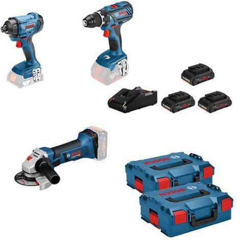 BOSCH Kit 3 outils 18V (GSR+GDR+GWS) - KIT3OUT18V5 - 0615990L56
