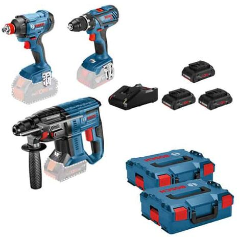BOSCH Kit 3 outils 18V (GSR+GDX+GBH) - KIT3OUT18V6 - 0615990M0V