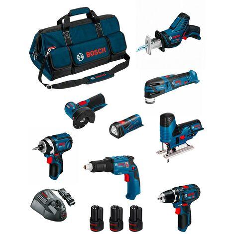 BOSCH Kit BMKB8-28AD3 (GSR12V-15+GTB12V-11+GDR12V-105+GWS12V-76+GST12V-70+GOP12V-28+GSA12V-14+GLI12V-80+3x2,0Ah+GAL1230CV+HDBAG)