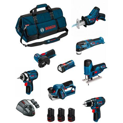 BOSCH Kit BMKB8-28DD3 (GSR12V-15+GDR12V-105+GWS12V-76+GST12V-70+GOP12V-28+GSA12V-14+GLI12V-80+GHO12V-20+3x2,0Ah+GAL1230CV+HDBAG)