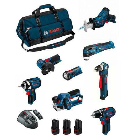 BOSCH Kit BMKB8-28ED3 (GSR12V-15+GDR12V-105+GWB12V-10+GWS12V-76+GOP12V-28+GSA12V-14+GLI12V-80+GHO12V-20+3x2,0Ah+GAL1230CV+HDBAG)