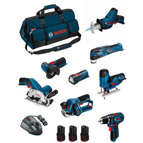 BOSCH Kit BMKB8-28FD3 (GSR12V-15+GKS12V-26+GWS12V-76+GST12V-70+GOP12V-28+GSA12V-14+GLI12V-80+GHO12V-20+3x2,0Ah+GAL1230CV+HDBAG)
