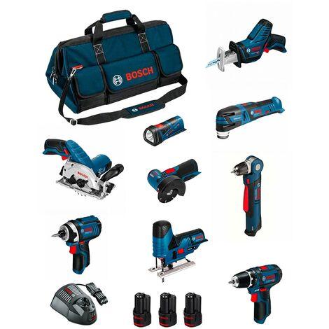 BOSCH Kit BMKB9-28BD3 (GSR12V-15+GDR12V-105+GKS12V-26+GWS12V-76+GST12V-70+GOP12V-28+GSA12V-14+GWB12V-10+GLI12V-80+3x2,0Ah...)