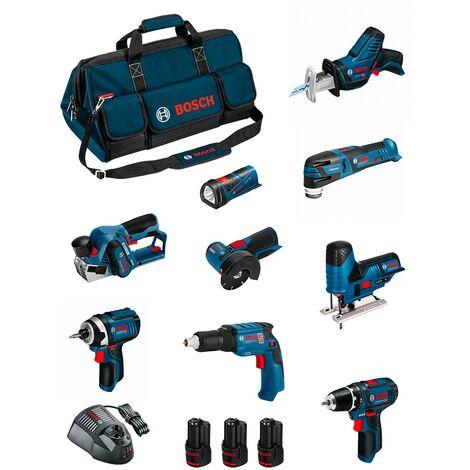 BOSCH Kit BMKB9-28CD3 (GSR12V-15+GTB12V-11+GDR12V-105+GWS12V-76+GST12V-70+GOP12V-28+GSA12V-14+GLI12V-80+GHO12V-20+3x2,0Ah)