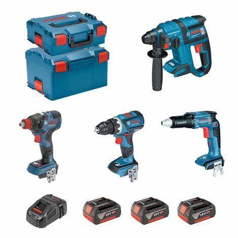 BOSCH Kit ECL4P3BEC2 (GDX 18V-200C GSR 18V-EC TE GSR 18V-60C GBH 18V-EC 3 x 5,0Ah GAL1880CV L-Boxx 136 L-Boxx 238)