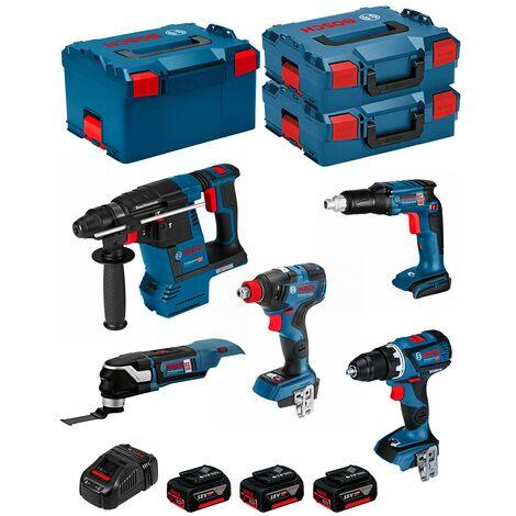BOSCH Kit ECL5P3BEC (GDX 18V-200C+GOP 18V-28+GSR 18V-ECTE+GBH 18V-26F+GSR 18V-60C+ 3x5,0AhGAL1880CV 2xL-Boxx136L-Boxx238)