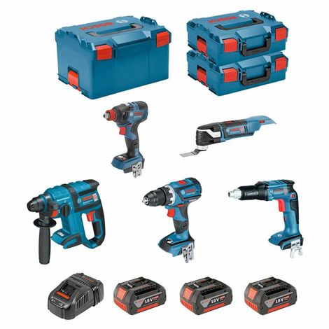 BOSCH Kit ECL5P3BEC2 (GDX 18V-200C + GOP 18V-28 + GSR 18V-EC TE + GBH 18V-EC + GSR 18V-60C + 3 x 5,0Ah + GAL1880CV + ...)
