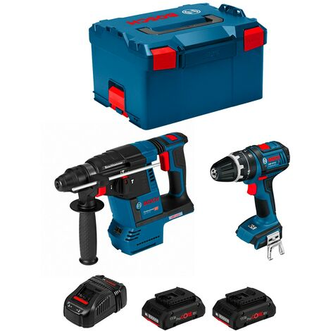 BOSCH Kit GBH 18V-26F + GSB 18 V-LI (2 x 4,0 Ah PROCORE + GAL1880CV + L-Boxx 238)
