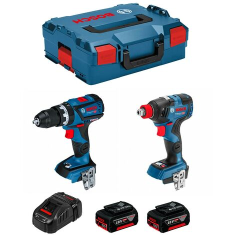 BOSCH Kit GSB 18V-60C GDX 18V-200C (2 x 5,0Ah GAL1880CV L-Boxx 136)
