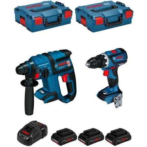 BOSCH Kit GSR 18V-60C + GBH 18V-EC (3 x 4,0 Ah PROCORE + GAL1880CV + 2 x L-Boxx 136)