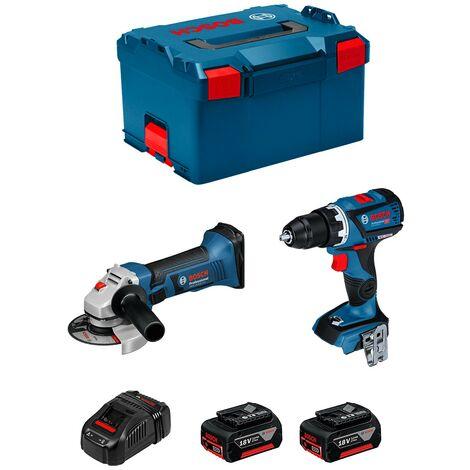 BOSCH Kit GSR 18V-60C GWS 18-125 V-LI (2 x 3,0Ah GAL1880CV L-Boxx 238)