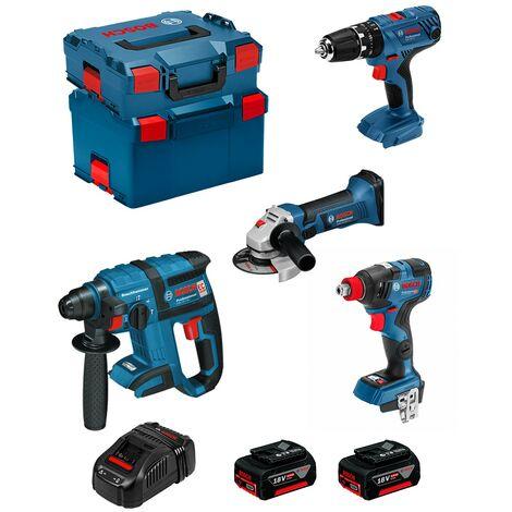 BOSCH Kit PSG4P2DEC (GBH 18V-EC GSB 18V-21 GWS 18-125 V-LI GDX 18V-200C 2 x 5,0Ah GAL1880CV L-Boxx 238 L-Boxx 136)