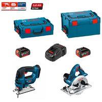 BOSCH Kit PSL2P2W (GST 18 V-LI + GKS 18 V-LI + 2 x 5,0 Ah + GAL1880CV + L-Boxx 136 + L-Boxx 238)