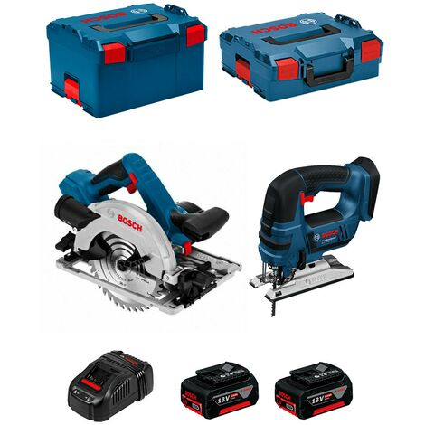 BOSCH Kit PSL2P2WC (GST 18V-LI B GKS 18V-57G 2 x 5,0Ah GAL1880CV L-Boxx 136 L-Boxx 238)