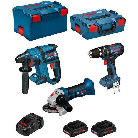 BOSCH Kit PSL3M3P (GBH 18 V-EC + GSB 18-2-LI + GWS 18 V-LI + 2 x 4,0 Ah PROCORE + GAL1880CV + L-Boxx 238 + L-Boxx 136)