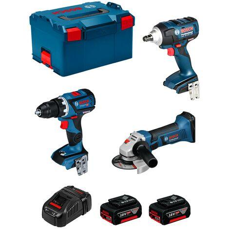 BOSCH Kit PSL3P2MC (GSR 18V-60C GDS 18V-EC 250 GWS 18-125 V-LI 2 x 5,0Ah GAL1880CV L-Boxx 238)