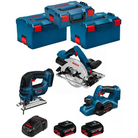BOSCH Kit PSL3P2WC (GST 18V-LI B GKS 18V-57G GHO 18V-LI 2 x 5,0Ah GAL1880CV 2 x L-Boxx 238 L-Boxx 136)