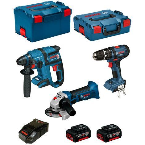BOSCH Kit PSL3P3 (GBH 18 V-EC + GSB 18-2-LI + GWS 18 V-LI + 2 x 5,0 Ah + AL1860CV + L-Boxx 238 + L-Boxx 136)