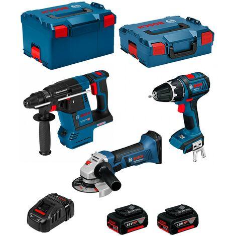 BOSCH Kit PSL3P3C (GBH 18 V-26F + GSB 18 V-LI + GWS 18-125 V-LI + 2 x 5,0Ah + GAL1880CV + L-Boxx 238 + L-Boxx 136)