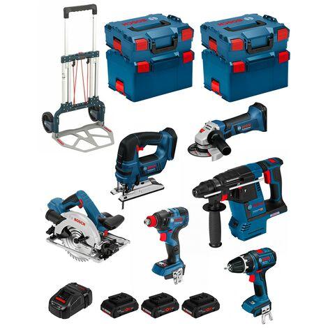 BOSCH Kit PSL6M3CP (GBH18V-26F+GKS18V-57G+GWS18-125V-LI+GDX 18V-200C+GSB18V-LI+GST18V-LIB+3x4,0Ah+GAL1880CV+L-Boxx136/238+Caddy)