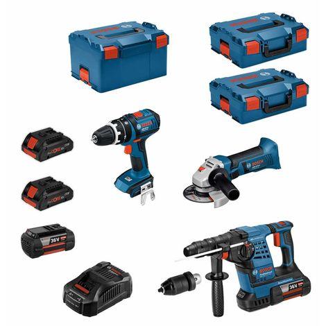 BOSCH Kit RS36183M2 (GBH 36VF-LI Plus+GWS 18-125V-LI+GSB 18V-LI+ 2x4,0Ah 36V 2x4,0Ah 18V GAL3680CV+ 2xL-Boxx136 L-Boxx238)