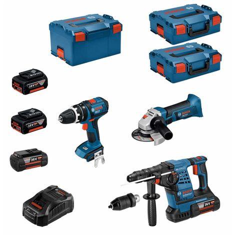 BOSCH Kit RS36183P2 (GBH 36VF-LI Plus+GWS 18-125V-LI+GSB 18V-LI+ 2x4,0Ah 36V2x5,0Ah 18VGAL3680CV 2xL-Boxx136 L-Boxx238)
