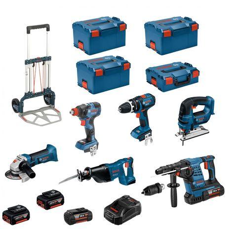 BOSCH Kit RSL36186P3(GBH36VF-LIPlus+GWS18-125V-LI+GSB18V-LI+GDX18V-200C+GST18V-LI+GSA18V-LI+2x4,0Ah+2x5,0Ah+L-Boxx136/238+Caddy)