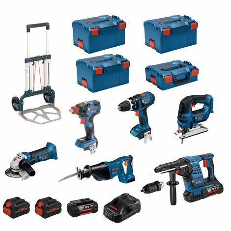 BOSCH Kit RSL36186T3 (GBH36VF-LIPlus+GWS18-125V-LI+GSB18V-LI+GDX18V-200C+GST18V-LI+GSA18V-LI+2x6,0Ah+2x8,0Ah+ GAL3680CV+4L-Boxx)