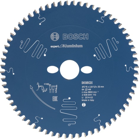 Bosch Kreissägeblatt Expert for Aluminium, 216 x 30 x 2,6 mm, 64