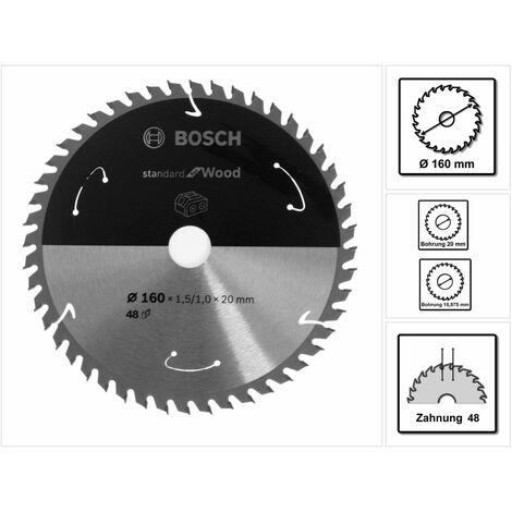 Bosch Kreissägeblatt Standard for Wood 160 x 1,5 x 20 / 15,875 mm 48 Zähne ( 2608837678 )