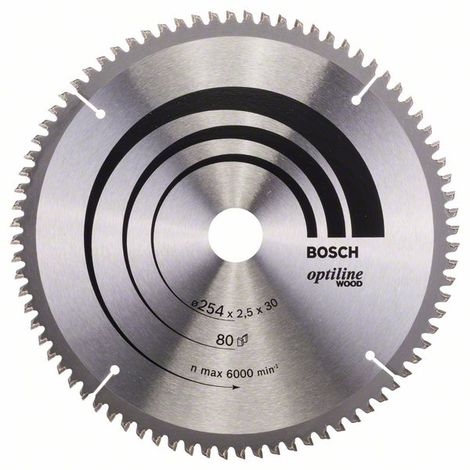 Bosch Lama per sega circolare Optiline Wood 254 x 30 x 2,5 mm, 80
