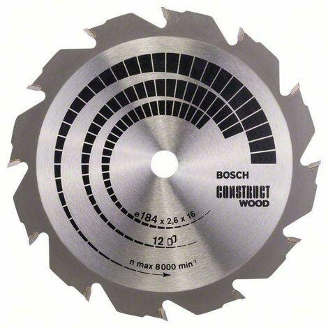 Bosch Lame de scie circulaire Construct Wood, 184 x 16 x 2,6 mm, 12 - 2608641200