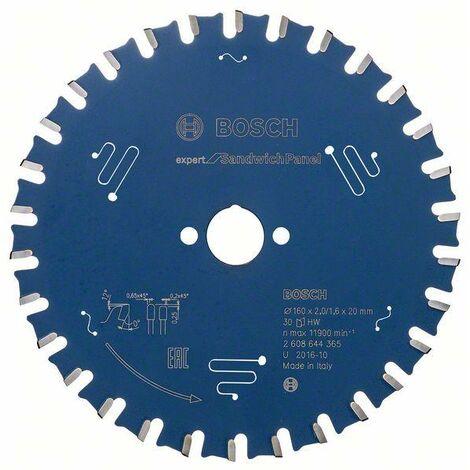 Bosch Lame de scie circulaire EX SH H, 160x20-30, 160 x 20 mm, 30 dents - 2608644365
