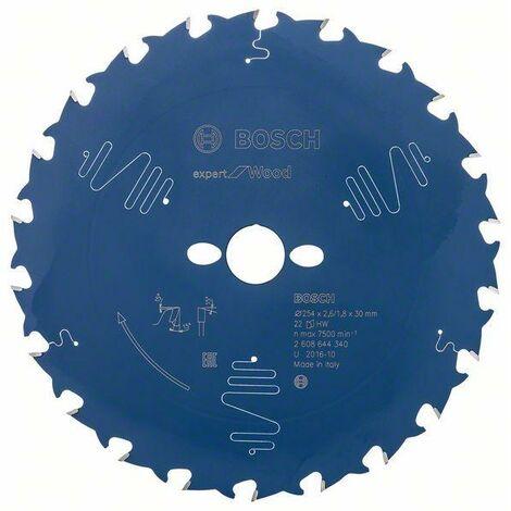 Bosch Lame de scie circulaire EX WO, T 254x30-22, 254 x 30 mm, 22 - 2608644340