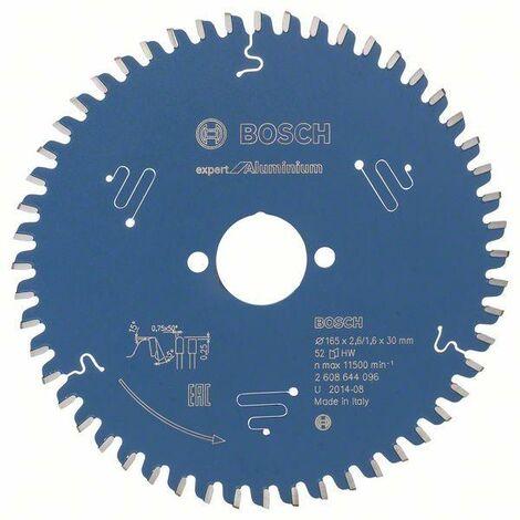 Bosch Lame de scie circulaire Expert for Aluminium, 165 x 30 x 2,6 mm, 52 - 2608644096