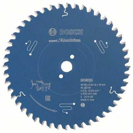 Bosch Lame de scie circulaire Expert for Aluminium, 184 x 16 x 2,6 mm, 48 - 2608644098