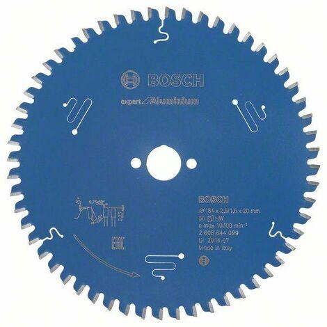 Bosch Lame de scie circulaire Expert for Aluminium, 184 x 20 x 2,6 mm, 56 - 2608644099